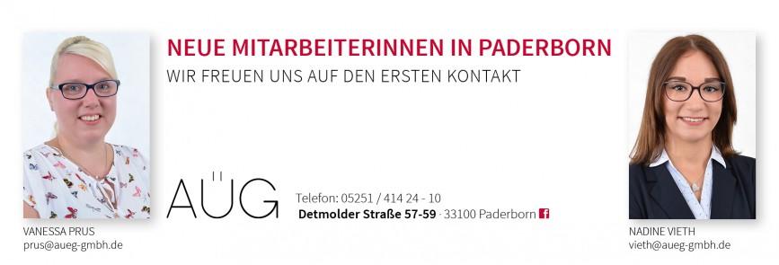 Neue Mitarbeiterinnen in der Niederlassung Paderborn
